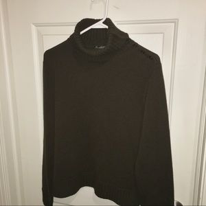 Lauren Ralph Lauren button turtleneck sweater